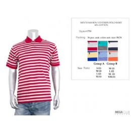 36 Bulk Mens Fashion Stripe Polo Shirt M-Xxl