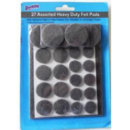 96 Bulk Felt Pads Pack Of 27 Heavy Duty Self Adhesive