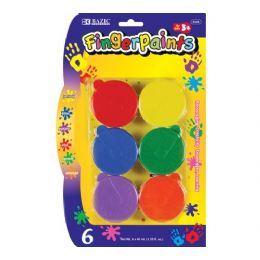 72 Bulk Bazic Assorted Color 40ml Finger Paint (6/pack)