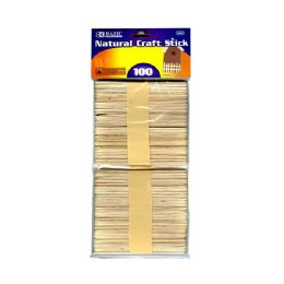 144 Bulk Bazic Natural Craft Stick (100/pack)