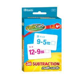48 Bulk Bazic Subtraction Flash Cards (36/pack)