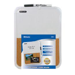 """72 Bulk Bazic 8.5"""" X 11"""" Dry Erase / Cork Combo Board W/ Marker"""