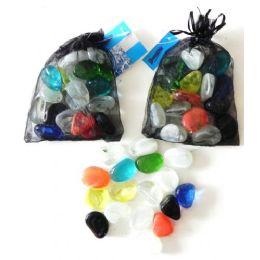 48 Bulk Decorative Assorted Shapes Glass Beads