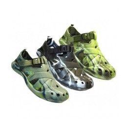 24 Bulk Men's Camouflage Velcro Sandals