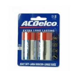 48 Bulk Acdelco Hvy Duty D Battery 2pk