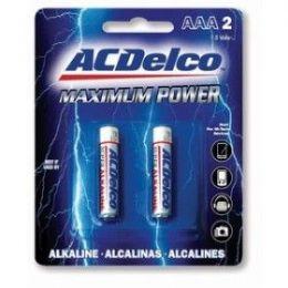 48 Bulk Acdelco Alkaline Aaa - 2 Piece