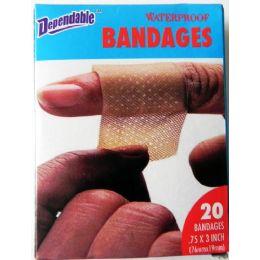 48 Bulk Waterproof Bandages 20 Pack