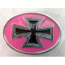 36 Bulk Pink Cross Belt Buckle