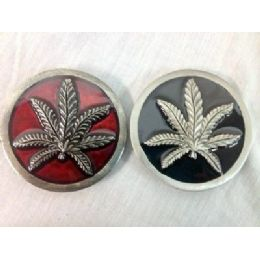 48 Bulk Marijuana Leaf Belt Buckle