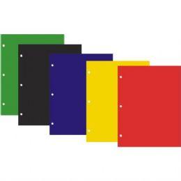 48 Bulk Twin Pocket Laminated Folders With HoleS- Asst Colors