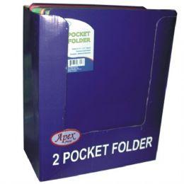 50 Bulk 2 Pocket 3 Holes Poly Clear Line Folder 5 Asst Colors In Display