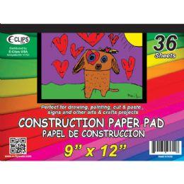 48 Bulk Construction Paper Pad, 9x12, 36 Sheets