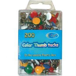 48 Bulk Color Thumb Tacks 200 Count