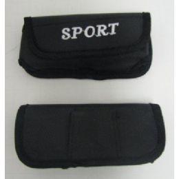 24 Bulk Black Nylon Sport Cell Phone Case