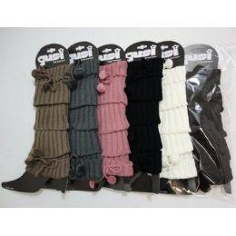 48 Bulk Leg WarmerS--Tie & Pompoms [p]