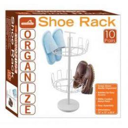 4 Bulk 10-Pair 2 Tier Revolving Shoe Racks