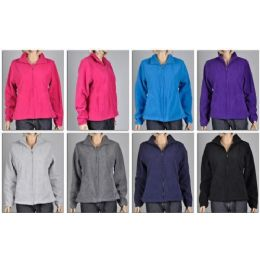 48 Bulk Ladies Polar Fleece Zip Dfown Sweater / Jacket