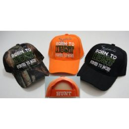 24 Bulk Born To HunT-Forced To Work Hat