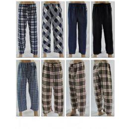 48 Bulk Mans Fleece Sleep Pants