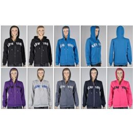 48 Bulk Laides Zipper HoodieS- New York