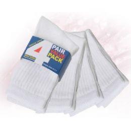 48 Bulk Boys 4 Pack Sport Crew Socks