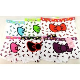 72 Bulk Girl's Hello Kitty Bow Under Pants Panties Shorts