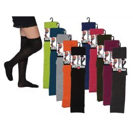 48 Bulk Women Over The Knee Solid Colors