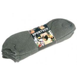 60 Bulk Mens 3 Pack Low Cut Sock Size 10-13 Grey Color Only