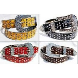 24 Bulk Western Style Rhineston Belt & Buckle