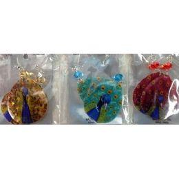 120 Bulk Teardrop Shape Shell Peacock Earring