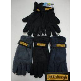 72 Bulk Men's Fleece GloveS-Thermal