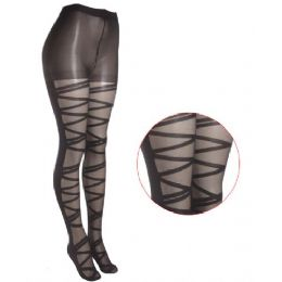 36 Bulk Ladies Printed Tights
