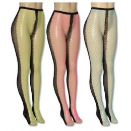 36 Bulk Ladies Assorted Color Tights