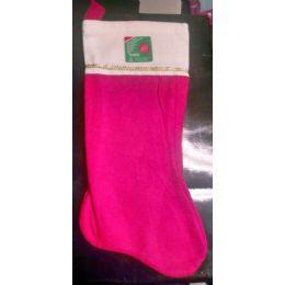 """180 Bulk 17"""" Large Red Velvet Christmas Stocking"""