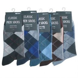 120 Bulk Mens Argyle Dress Sock