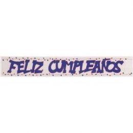 240 Bulk Mylar Banner Feliz Cumpleanos 4x72