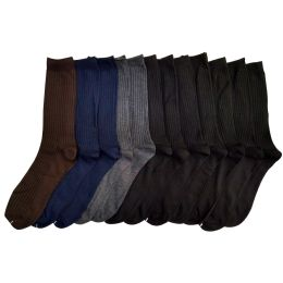 120 Bulk Men's Dress Sock In Assorted Colors