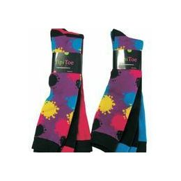 60 Bulk Ladies 3 Pack Splattered Paint Knee High Sock