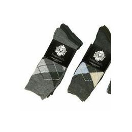 60 Bulk Men's 3 Pack Casual Print Dress Socks