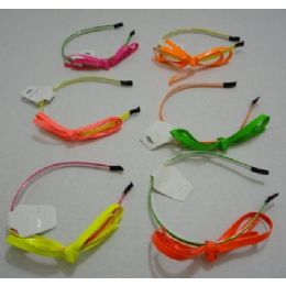 72 Bulk Headband With BoW-Neon Colors