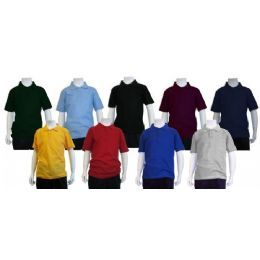 24 Bulk Boys School Uniform Polo Shirt