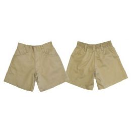 24 Bulk Boys 2pkt HalF-Back Elastic School Shorts