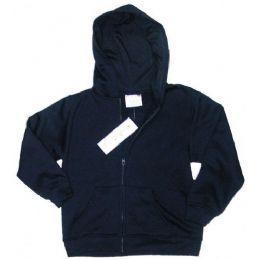 12 Bulk Boys 4 - 7 FulL-Zip Hooded Fleece