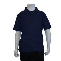 12 Bulk Boys School Uniform Polo Shirt