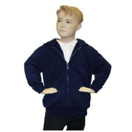 12 Bulk FulL-Zip Hooded Fleece Size 8 Only