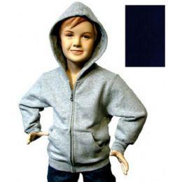 12 Bulk Boys 4-7 FulL-Zip Hooded Fleece