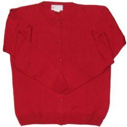 26 Bulk Adult School Cardigan Red Color