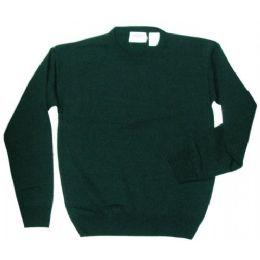 17 Bulk Adult School Crew Neck Pull Over Sweater Hunter Green Only