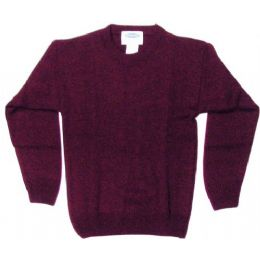 18 Bulk School Crew Neck Pull Over Sweater Burgundy Color Only