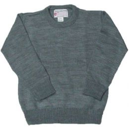 16 Bulk School Crew Neck Pull Over Sweater Grey Color Only